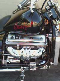 350 cu. in Chev ZZ4 V8 Engine in a Motorcycle